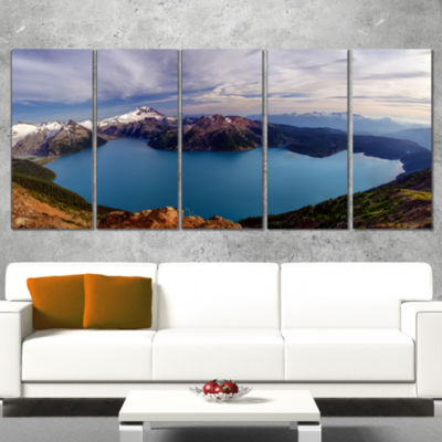 Clear Lake With Bright Sky Extra Large Landscape Canvas Art Print - 5 Panels