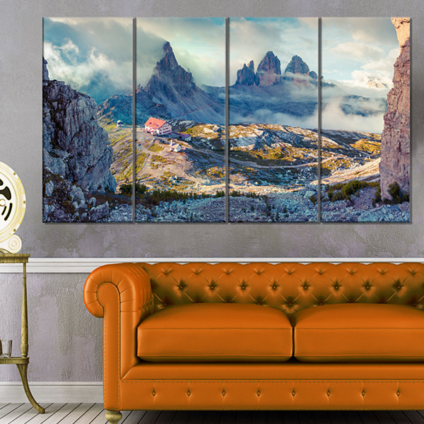 Design Art Beautiful Lacatelli In National Park Large Landscape Canvas Art Print - 4 Panels