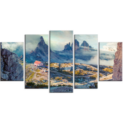 Beautiful Lacatelli In National Park Large Landscape Wrapped Canvas Art Print - 5 Panels