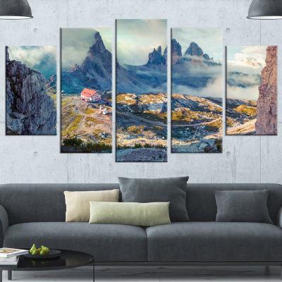 Designart Beautiful Lacatelli In National Park Large Landscape Canvas Art Print - 5 Panels