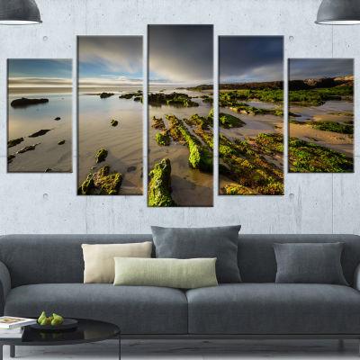Designart Furnas Virgin Beach Galicia Spain Seashore Canvas Art Print - 4 Panels