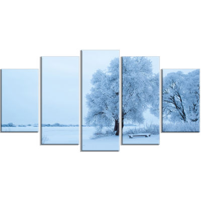 Foggy Yuriev Monastery Large Landscape Wrapped Canvas Art - 5 Panels