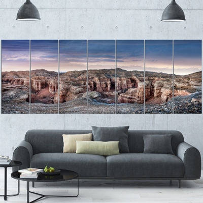 Designart Charyn Canyon In Kazakhstan Large Landscape Wrapped Canvas Art - 5 Panels