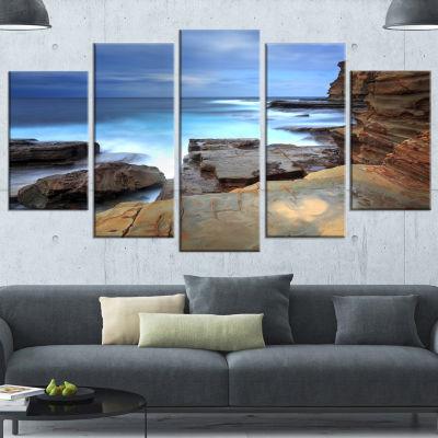 Designart Terrigal Skillion Nsw Australia SeashoreWrapped Canvas Art Print - 5 Panels