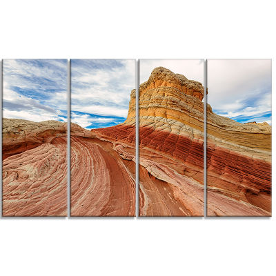 Paria Plateau In Northern Arizona Landscape CanvasArt Print - 4 Panels