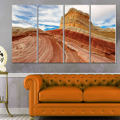 Designart Paria Plateau In Northern Arizona Landscape Canvas Art Print - 4 Panels