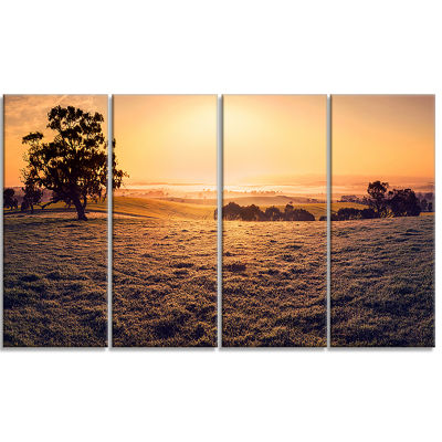 Field Of Dreams Panorama Landscape Canvas Art Print - 4 Panels