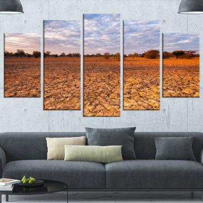 Designart Amazing View Of African Landscape Landscape Canvas Art Print - 4 Panels