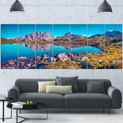 Designart Lago Rienza Ursprung Panorama Large Seashore Canvas Art Print - 7 Panels