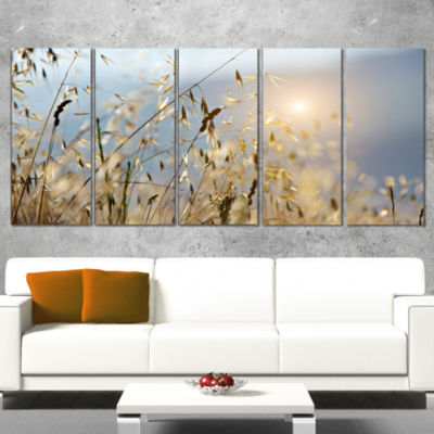 Typical Tuscany Sunset Italy Landscape Canvas ArtPrint - 5 Panels
