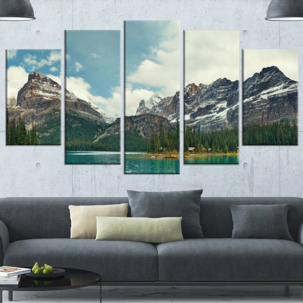 Designart Yoho National Park Panorama Landscape Wrapped Canvas Art Print - 5 Panels