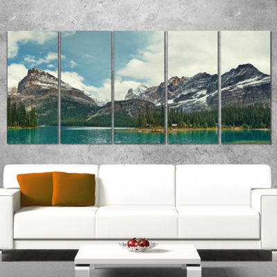 Designart Yoho National Park Panorama Landscape Canvas Art Print - 5 Panels