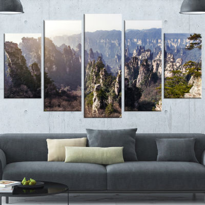 Designart Zhangjiajie National Forest Park Landscape Canvas Art Print - 4 Panels