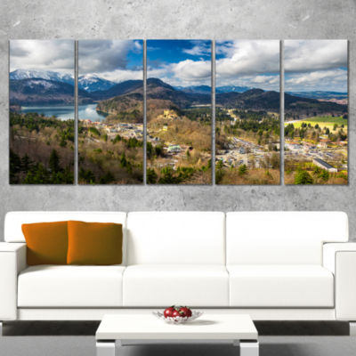 Alps And Lakes On Summer Day Landscape Canvas ArtPrint - 5 Panels