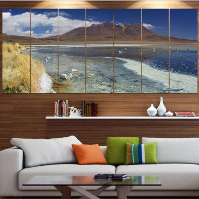 Designart Desert Lake Laguna Canapa On Sunny DayModern Seashore Wrapped Canvas Wall Art - 5 Panels