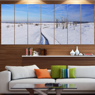 Designart Hautes Fagnes In Belgium Panorama ModernSeashoreCanvas Wall Art - 5 Panels