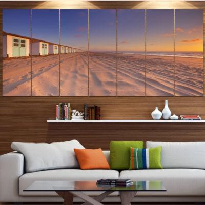 Designart Laguna Canapa Bolivia At Sunset ModernLandscape Wrapped Canvas Art - 5 Panels