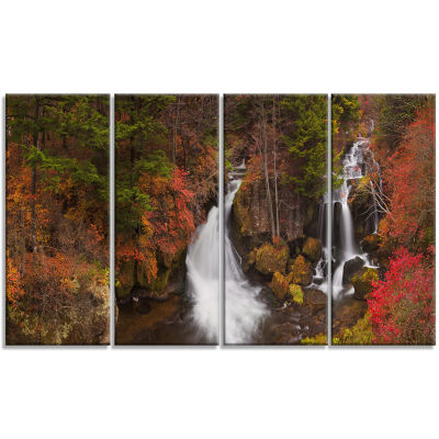 Ryuzu Falls Near Nikko Japan Landscape Canvas ArtPrint - 4 Panels