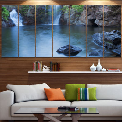 Florence Falls In Litchfield Landscape Canvas ArtPrint - 6 Panels