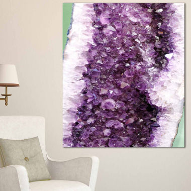 Design Art Purple Precious Stones Abstract Canvas Art Print
