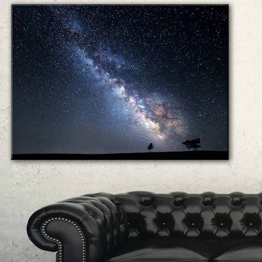 Design Art Summer Night With Stars In Crimea Landscape Photography Canvas Print