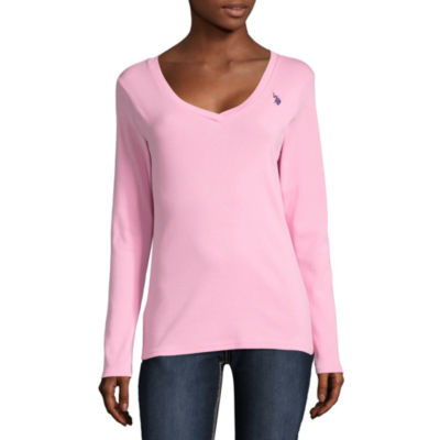 Us Polo Assn. Long Sleeve Sweatshirt-Juniors