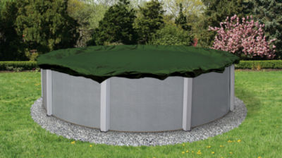 Silver 12-Year Round Above Ground Pool Winter Cover