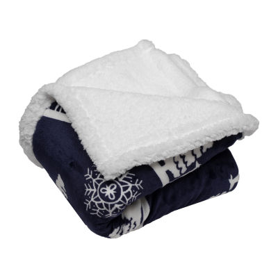 Deerly Sherpa Throw Blanket