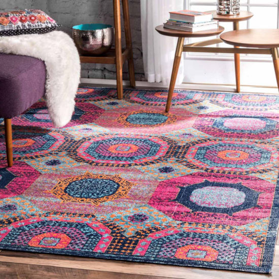 nuLoom Faded Medallion Marva Rug
