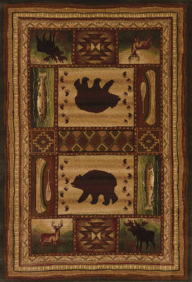 United Weavers Contours Carleo Entertainment Management Collection Bear Wilderness Rectangular Rug
