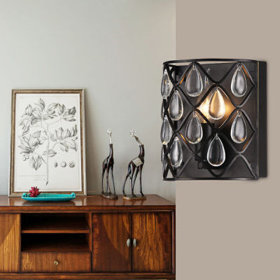 Tafari  Metal and Glass 1-light Wall Sconce