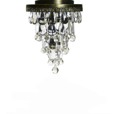Forbase 1-light Crystal Ceiling Lamp Antique Bronze