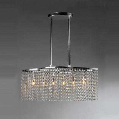 Tee Crystal 6-light Chrome Chandelier