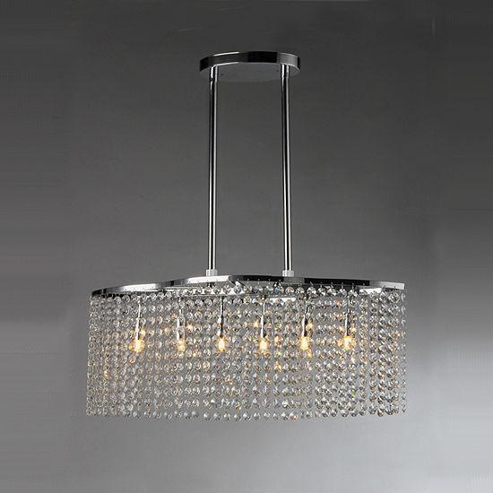 Tee Crystal 6 Light Chrome Chandelier