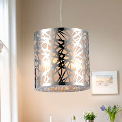 Janna 1-light Metal 8-inch Chrome-finish Pendant Lamp