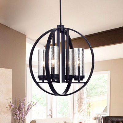 Yuval Oil Rubbed Bronze 19-inch Round Pendant Light
