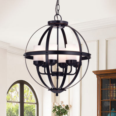 Almog Oil Rubbed Bronze 19-inch Round Pendant Light