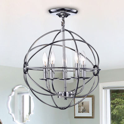 Shindanlang Chrome-finish Metal 16-inch Chandelier