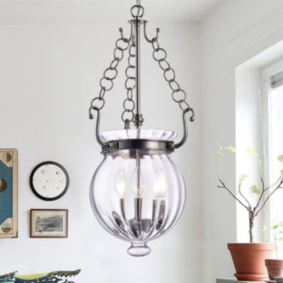 Winfield Nickel 12-inch Round Pendant Light