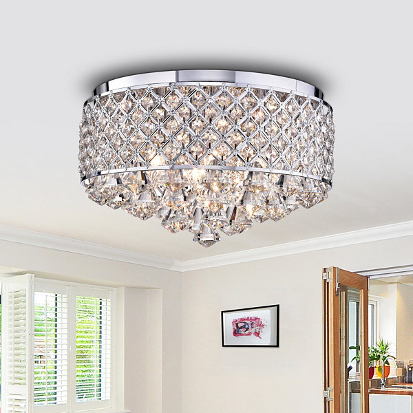 Encantadia Crystal 15-inch Chrome-finish Chandelier