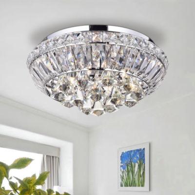 Jepharo Chrome Finished Crystal Ceiling Lamp
