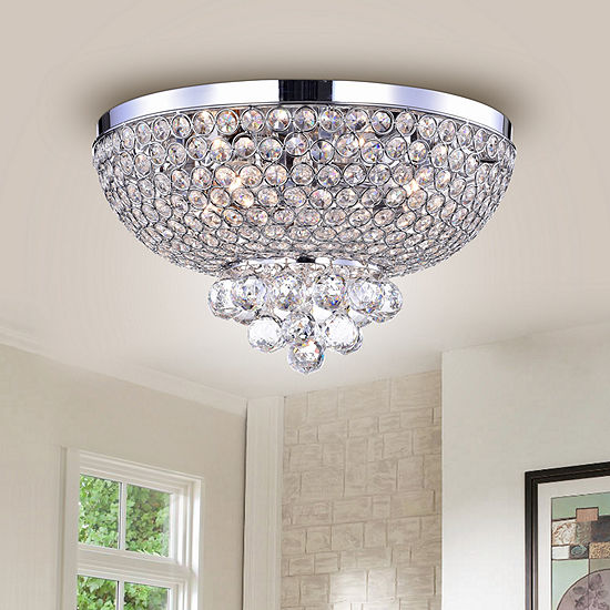 Jassko Chrome 14 Inch Hemisphere Ceiling Lamp
