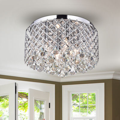Konaru Crystal Round Flush Mount Ceiling Light