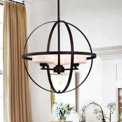 Nymige Antique Black 16-inch Round Pendant