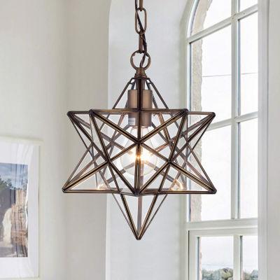 Minkar 1-Light Antique Bronze Star Pendant