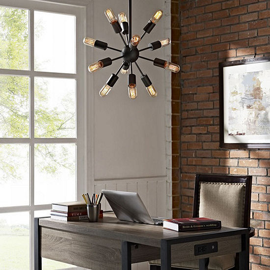 Herrick 20-inch 12 Head Edison Light Pendant
