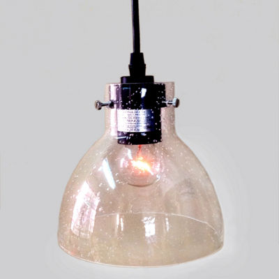 Glenda 1-light Adjustable Cord Glass Edison Pendant Light with Bulb