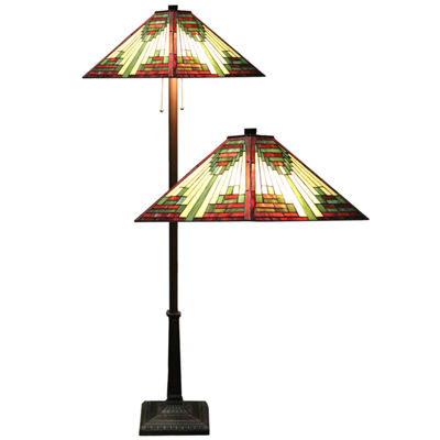 Warehouse Of Tiffany Metal Floor Lamp