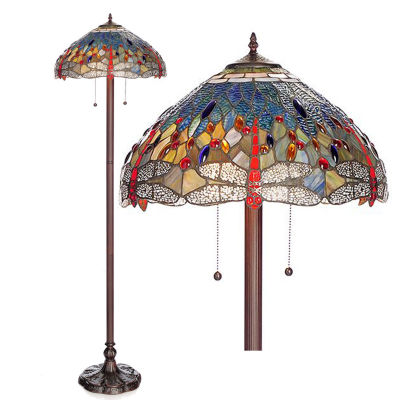 Warehouse Of Tiffany Metal Floor Lamp