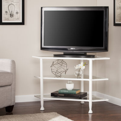 Modern Life Furniture Metal/Glass Corner TV Stand